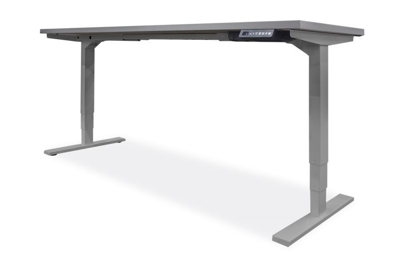 "NEW OFCHite 30""D x 48""W Adjustable Height Desk (Silver Base)"