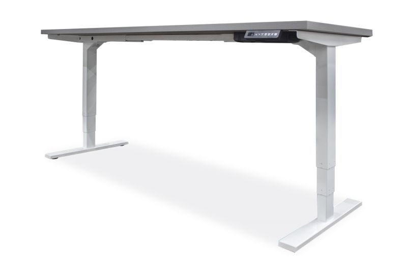 "NEW OFCHite 30""D x 48""W Adjustable Height Desk (White Base)"