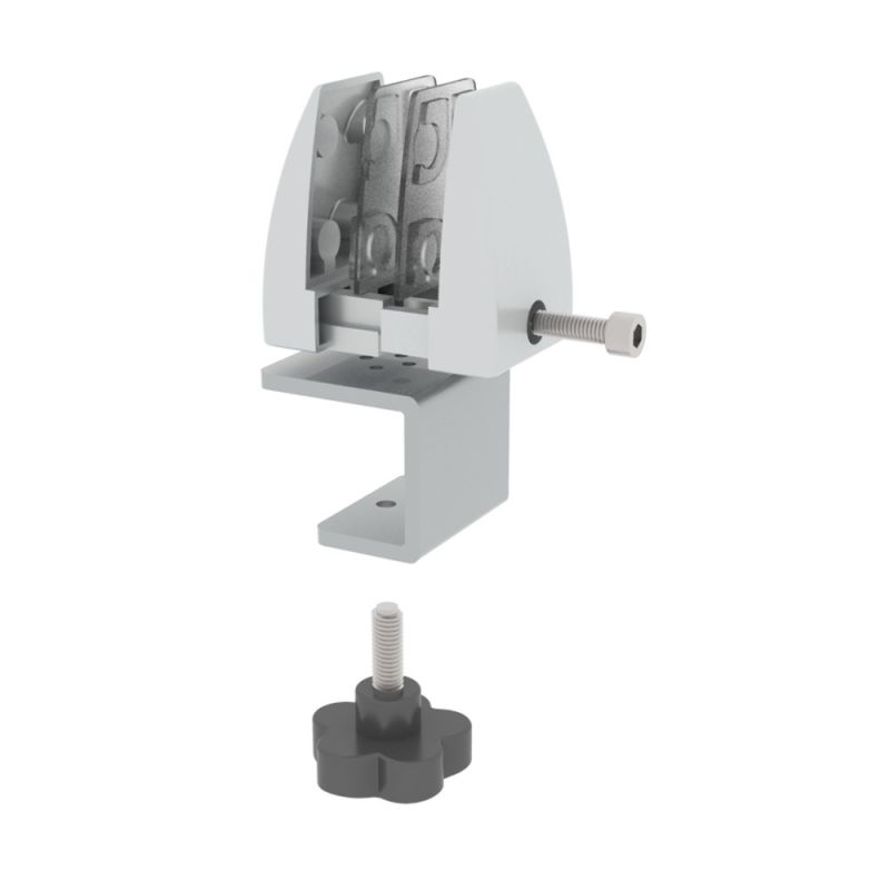 "Office Source Work Surface Clamp Bracket for 1"" - 1.5"" Tops (Single)"