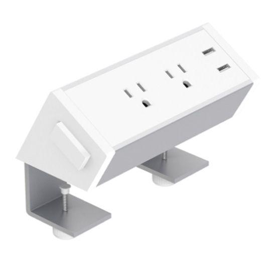 Office Source White Desk Mount Power Module