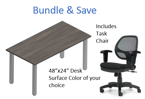 "Offices to Go 48""W x 24""D Desk & Chair Bundle"