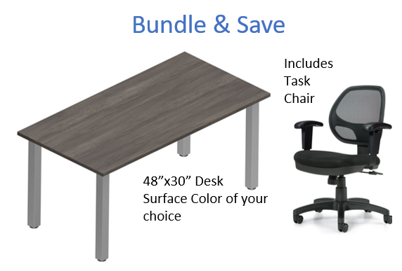 "Offices to Go 48""Wx30""D Desk & Chair Bundle"