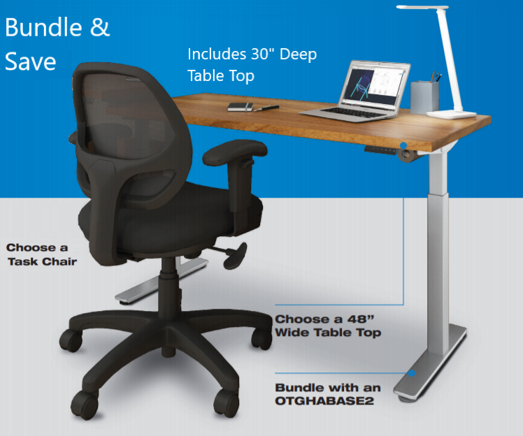 "Offices to Go 48""Wx30""D Work From Home Bundle"