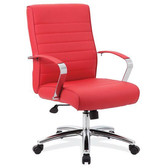 high back chrome arm chair
