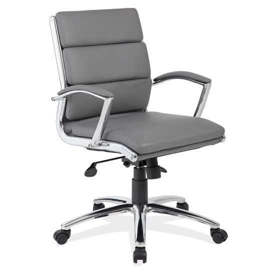 grey task chair
