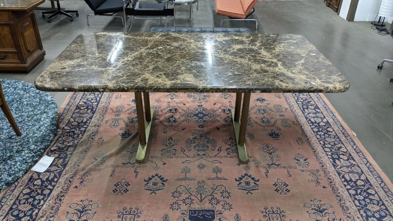 6.5' Rectangular Conference Table (Brown Marble)