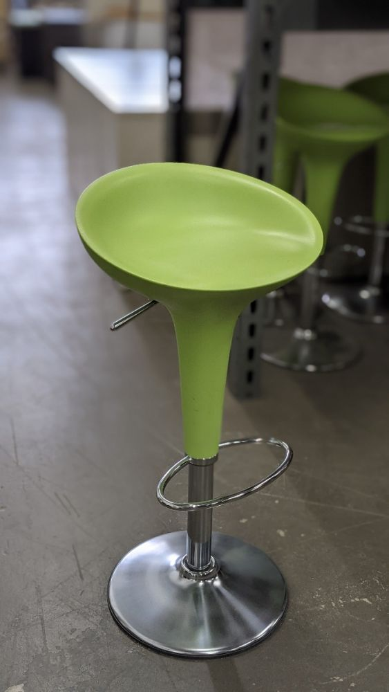 Set of (6) Magis Bombo Stools (Green)