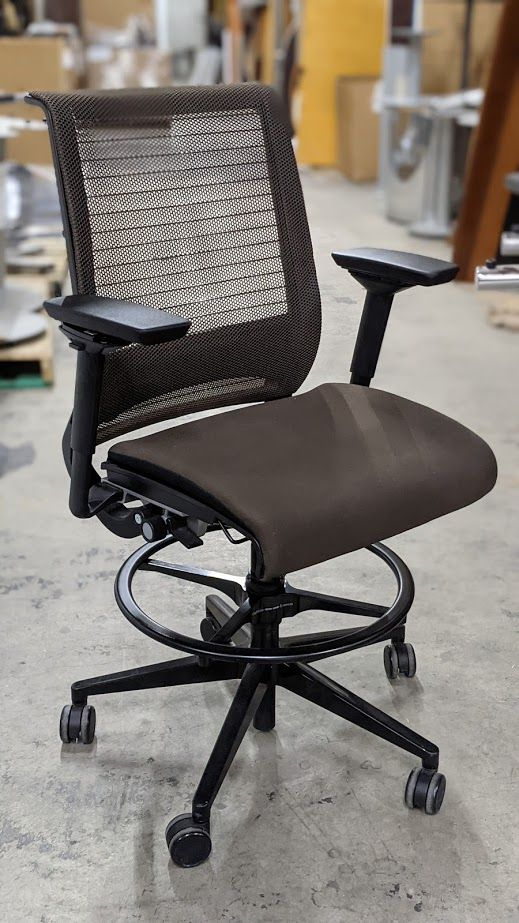 Steelcase Think Task Stool (Root Beer/Root Beer)
