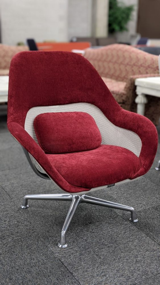 Steelcase Coalesse SW_1 Lounge Chair (Red/White)
