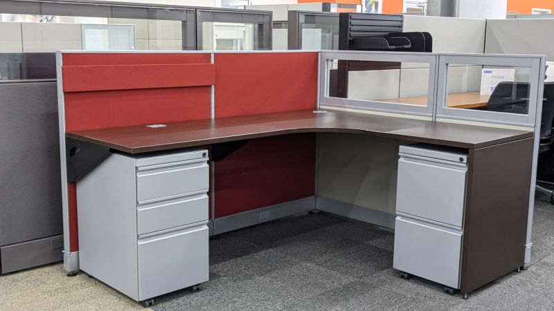 """Certified Pre-Owned Group Lacasse RH Workstation (5'D x 6'W x 44""""H)"""