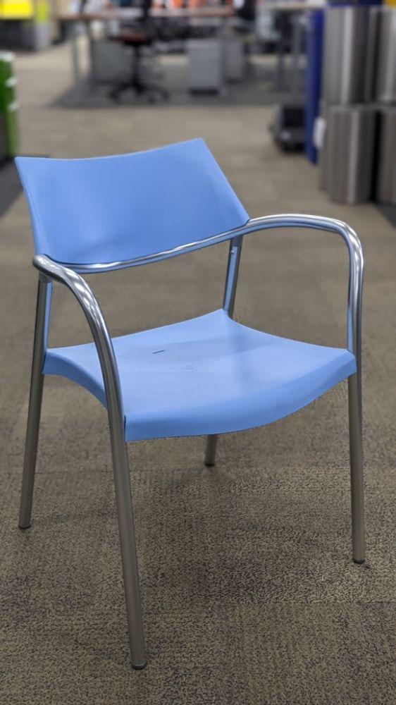 Amat Splash Side Chair (Light Blue)
