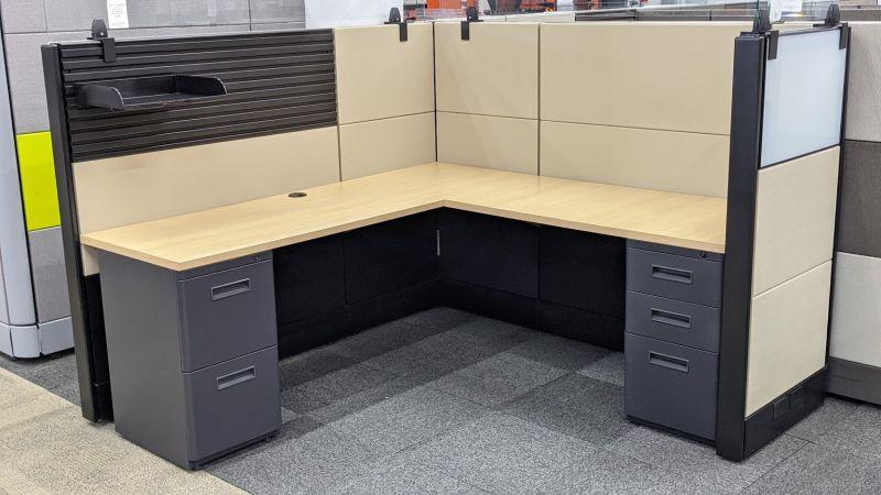 "Refreshed Herman Miller Ethospace Workstation (6'D x 6'W x 54""H)"