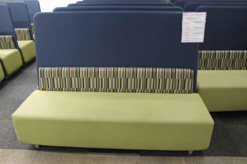 "70"" Gunlocke Love Seat (Green/Blue)"