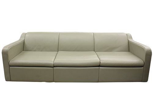 Charles Pfister Leather Three-Seat Sofa (Bristol Willow)