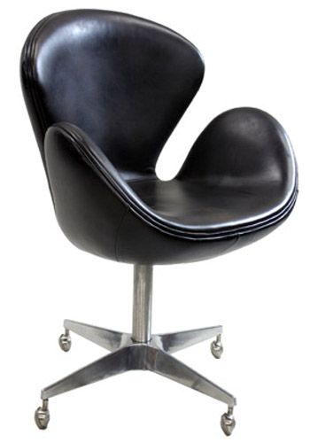 Reproduction Swan Chair by Arne Jacobsen (Brown Leather)