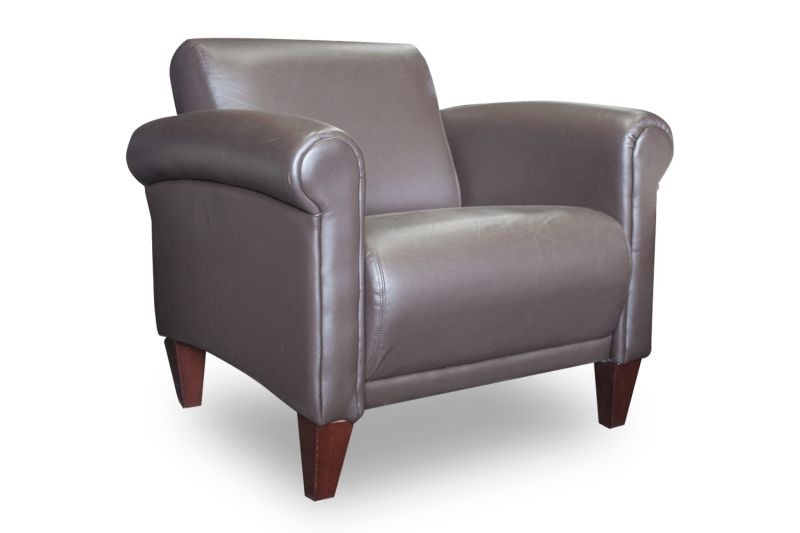 Leland Lounge Chair (Brown Leather)