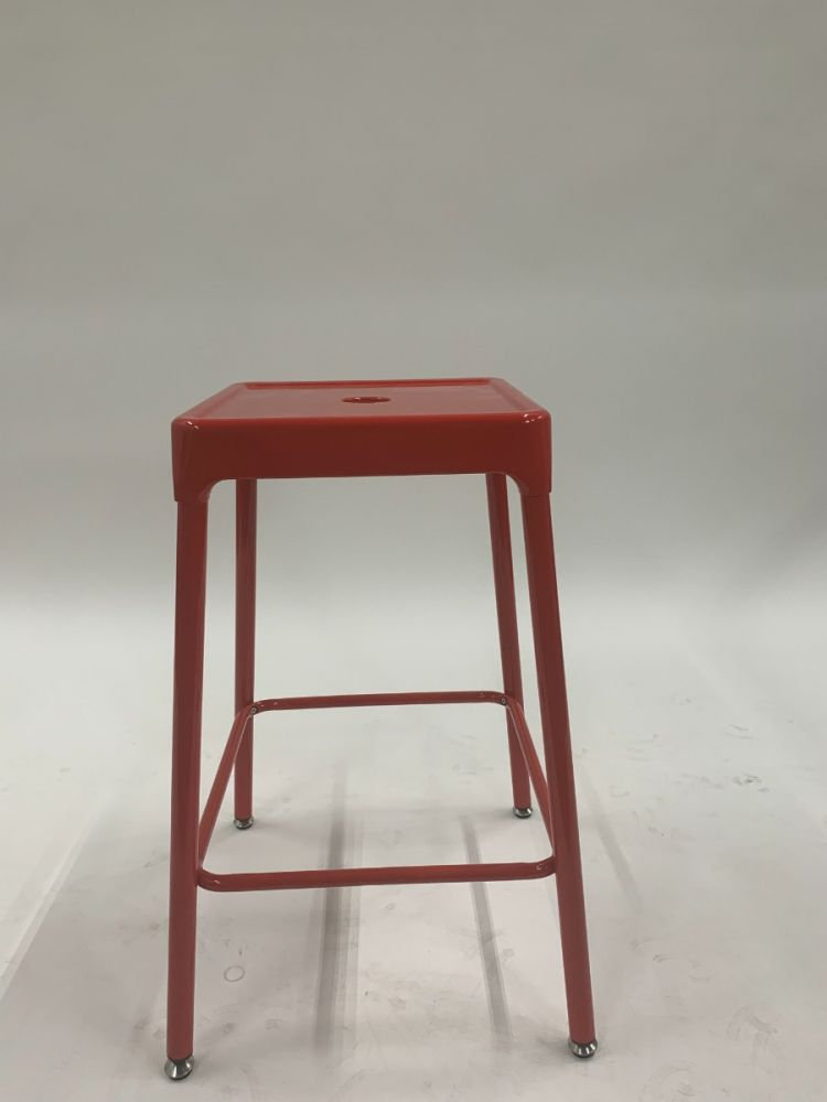 Safco Steel Stool (Red)