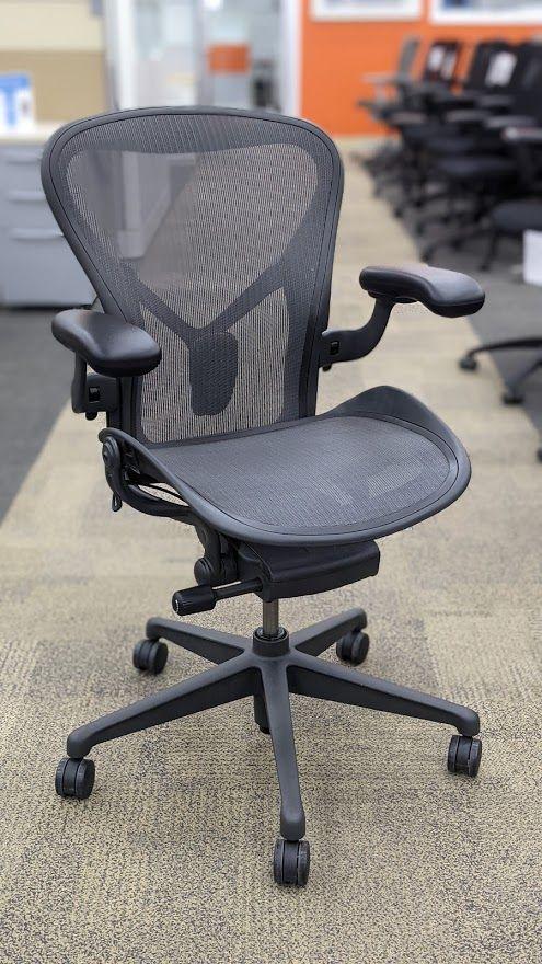 Herman Miller Aeron 'A' Work Chair (Graphite) 1 Tab