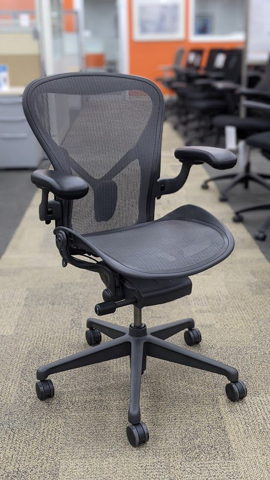 Herman Miller Aeron 'B' Work Chair (Graphite) 1 Tab