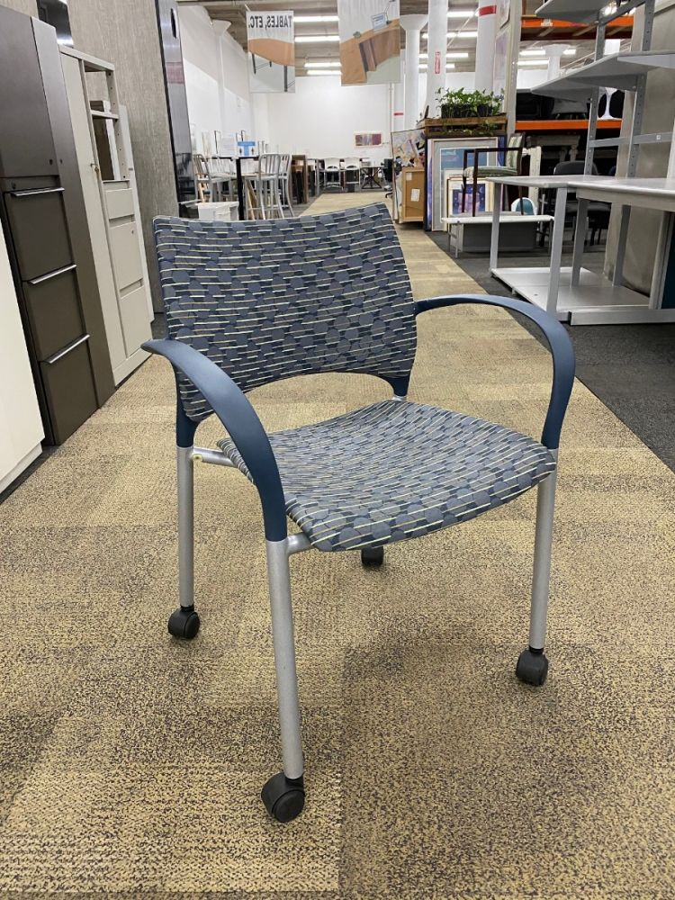 Keilhauer Loon Mobile Side Chair (Blue Circles and Lines)
