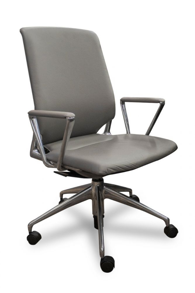 Vitra Meda Conference Chair (Grey Leather)