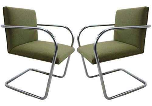 Knoll Brno Tubular Side Chair (Hudson Olive Heather)