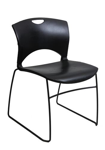 Sit On It OnCall Armless Stack Chair (Black)