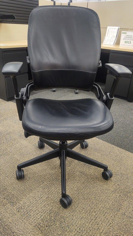 Steelcase Leap V2 Task Chair (Black Leatherette)