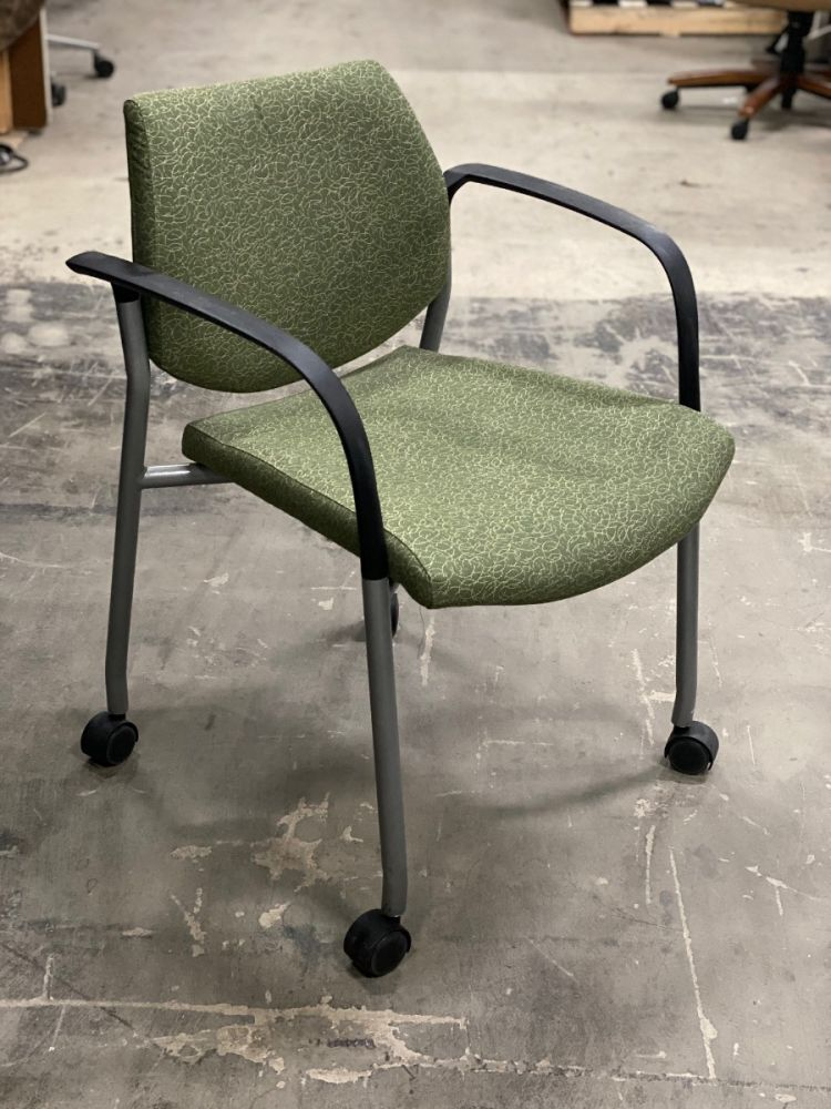 Encore Seating Mobile Stack Chair (Green Scribbles)