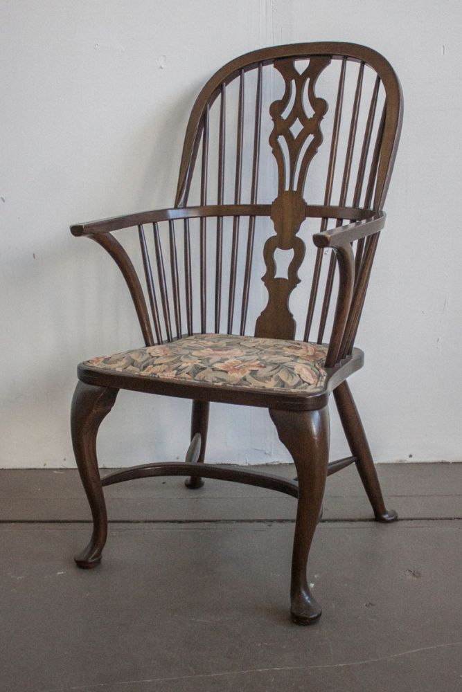 Baker Georgian Period Windsor Chair  (Yew)