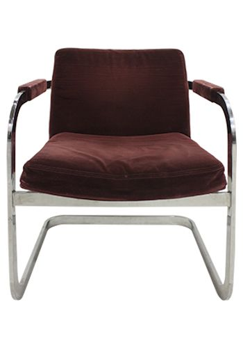 Elite Chrome Sled Base Side Chair (Plum Velvet)