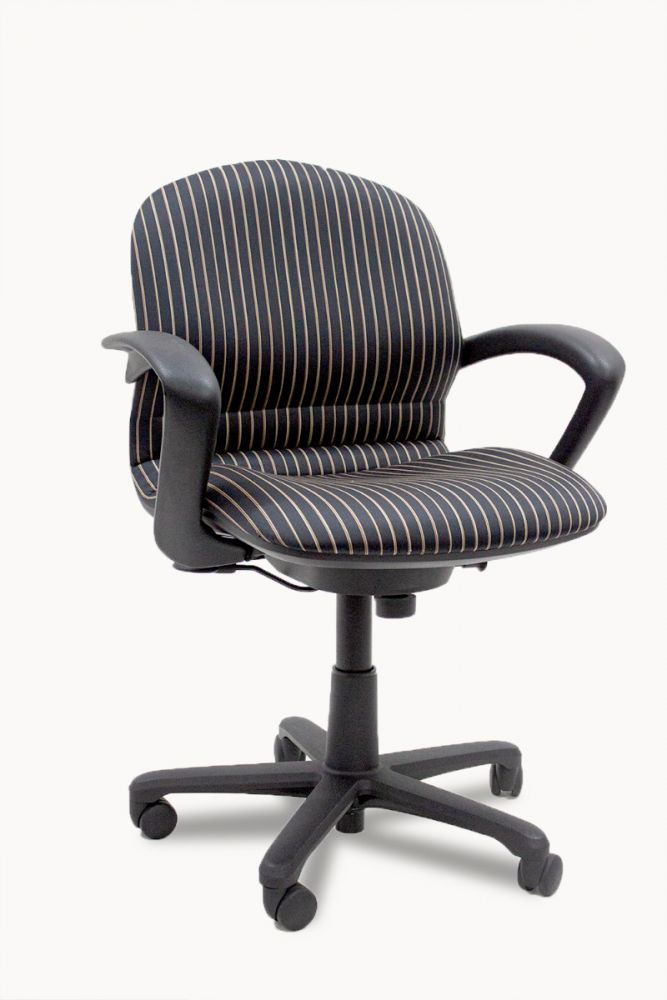 Steelcase Rally 457 Conference Chair (Black Stripes)