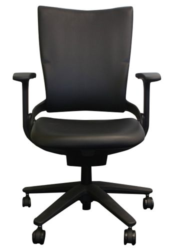 Allsteel Sum High-Back Conference Chair (Black Leather)