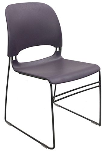 Herman Miller Limerick Plastic Stack Chair (Purple)