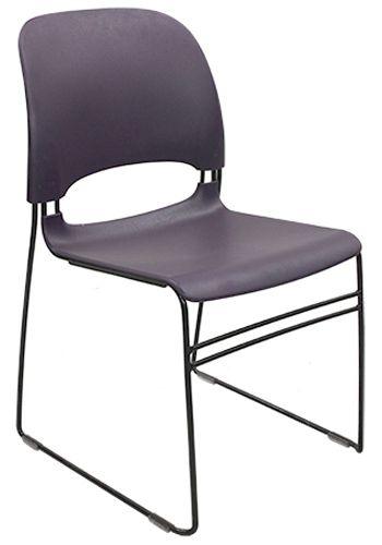 Herman Miller Limerick Plastic Stack Chair (Purple)