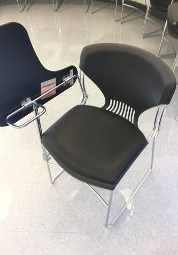 Allsteel Tablet Arm Sled Base Side Chair (Black)