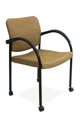 Allsteel Mobile Side Chair (Mustard)