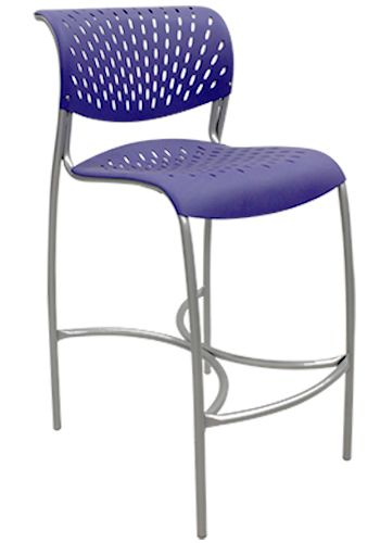 Open-Box Izzy Hannah Cafe-Height Stool (Purple Martin)