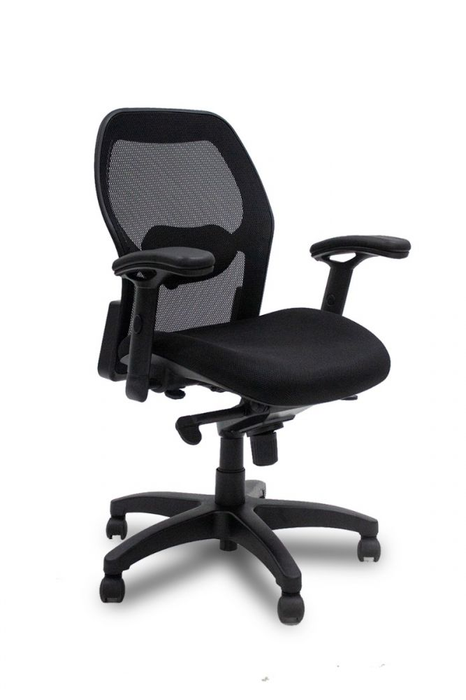 Mayline 3200 Task Chair (Black Mesh)