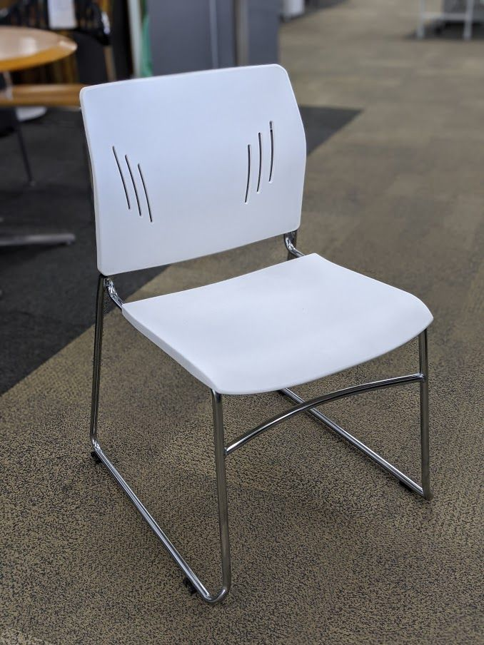 OfficeSource Stack Chair (White)
