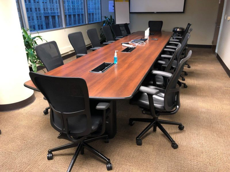 Conference Table (Cherry/Black) 216 x 48