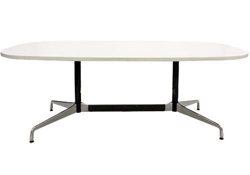 6' Herman Miller Eames Oval Conference Table (Studio White)