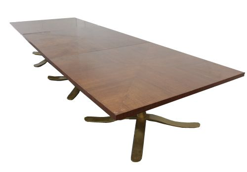 5' Zographos Base  Walnut Veneer Square Conference Table
