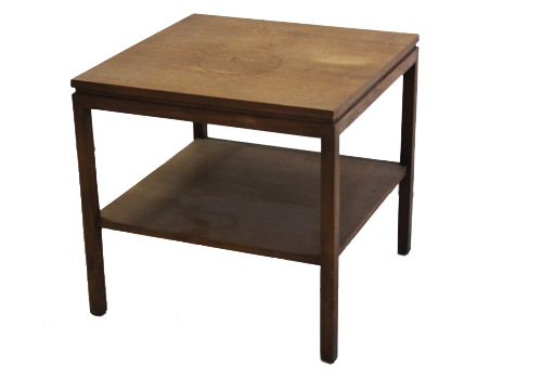 2' Alma Walnut Veneer Square Side Table