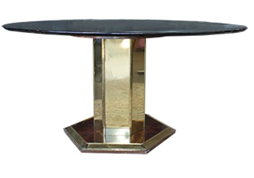 4.5' Henredon Glass Top Round Table