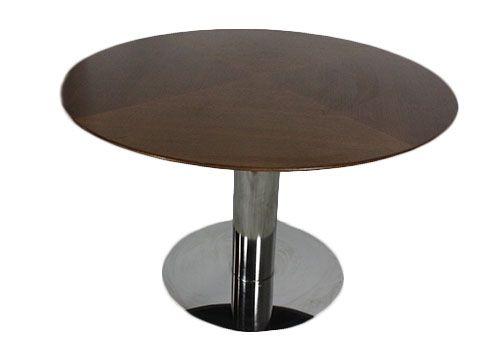 4' Stow & Davis Oak Veneer Round Conference Table