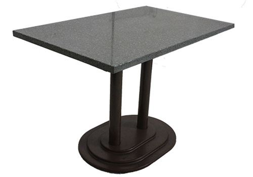 4' Grey Granite Rectangular Side Table