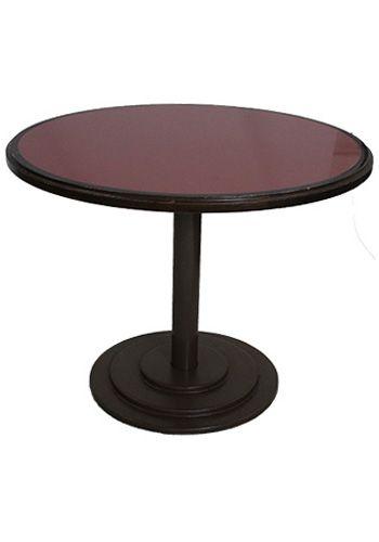 3' Vermillion Flare Laminate Round Side Table