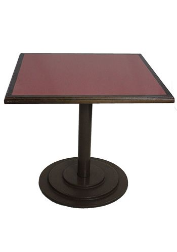 3' Vermillion Flare Laminate Square Side Table