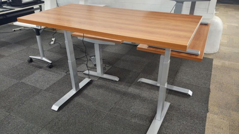 """59"""" Compel Adjustable Height Table Desk (Cherry)"""